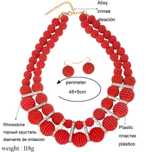 Nigerian Wedding bridal African Acrylic Beads Jewelry Set