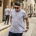 2017 Летний Новый Мода Мужская С Коротким Рукавом Футболки Случайные Футболки Мужской Большой Размер футболки для Мужчин 1594