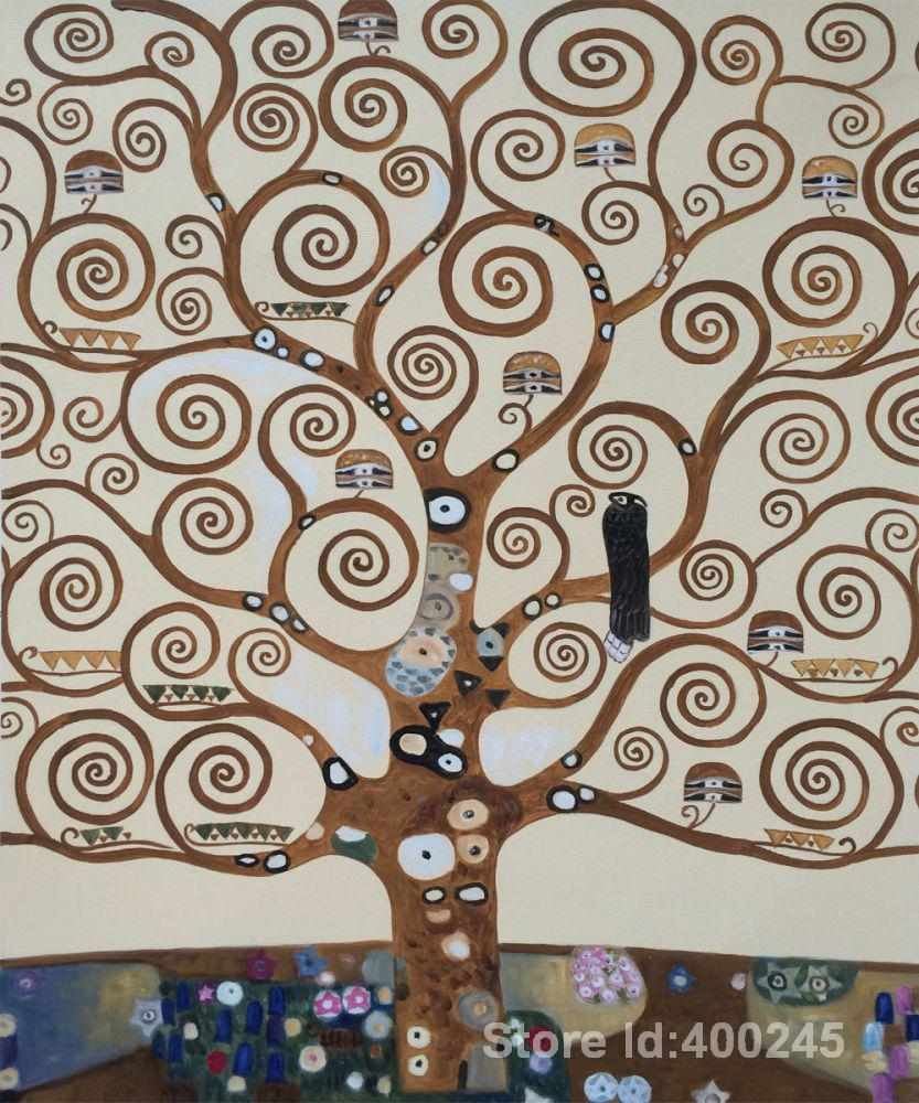 Klimt L Arbre De Vie Tableau €79.5 20% de réduction|gustav klimt peintures de l'arbre de la vie  reproduction art de haute qualité peint à la main|peinture et calligraphie|  | -
