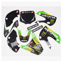 RACING motorcycle 3m graphics kit decals sticker for kawasaki moto dirt pit bike KLX110 KX65 -K0014 free shipping