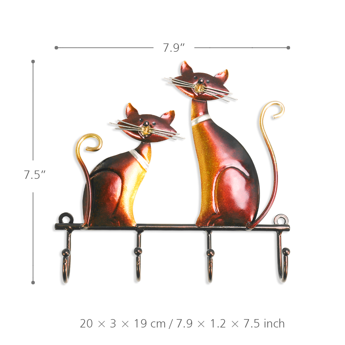 Cat themed wall hook for coats