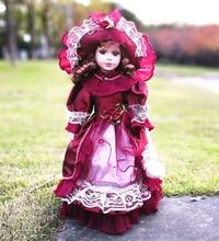 Hot Sälj 41cm Europeisk Stil Victoria Stil Ryssland Keramisk Klassisk Dock Noble Porslin Doll Högkvalitativ Toy Gift For Girl 91
