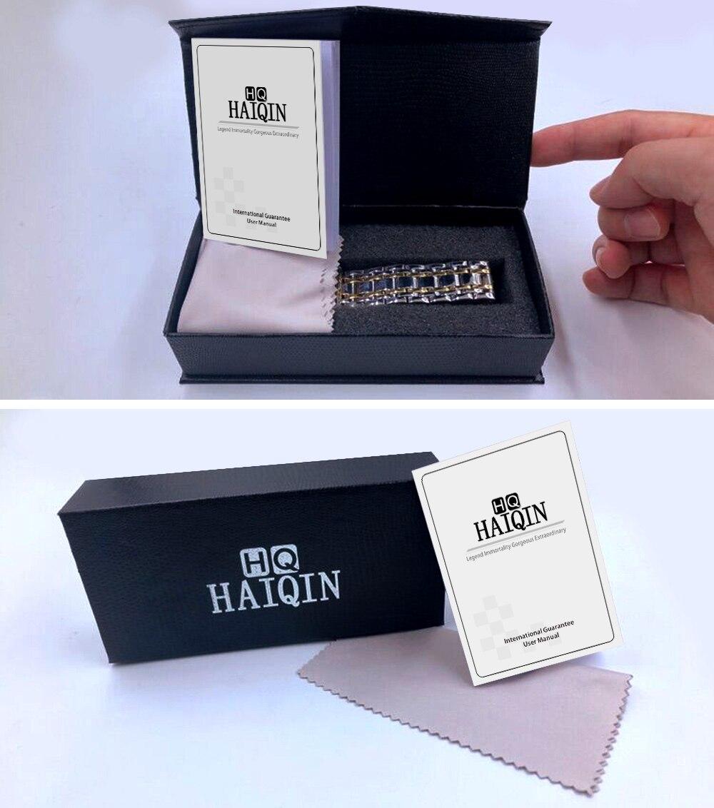 Haiqin relógios masculinos topo marca de luxoautomáticomecânicotourbilmilitarà