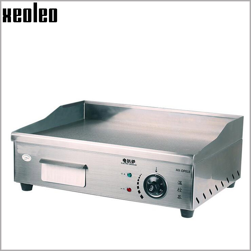 купить XEOLEO Electric Teppanyaki machine Commercial Griddle 3000W 7mm thick Flat pan griddle Pancakes steak Dorayaki machine BBQ Grill по цене 16645.79 рублей
