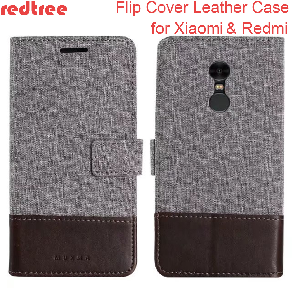 Xiaomi Redmi 4X 4A Note 4X 4 Pro Case Luxury Cloth Pattern Flip Cover Wallet Leather Case for Xiaomi mi6 mi5c mi max 2 Xiomi