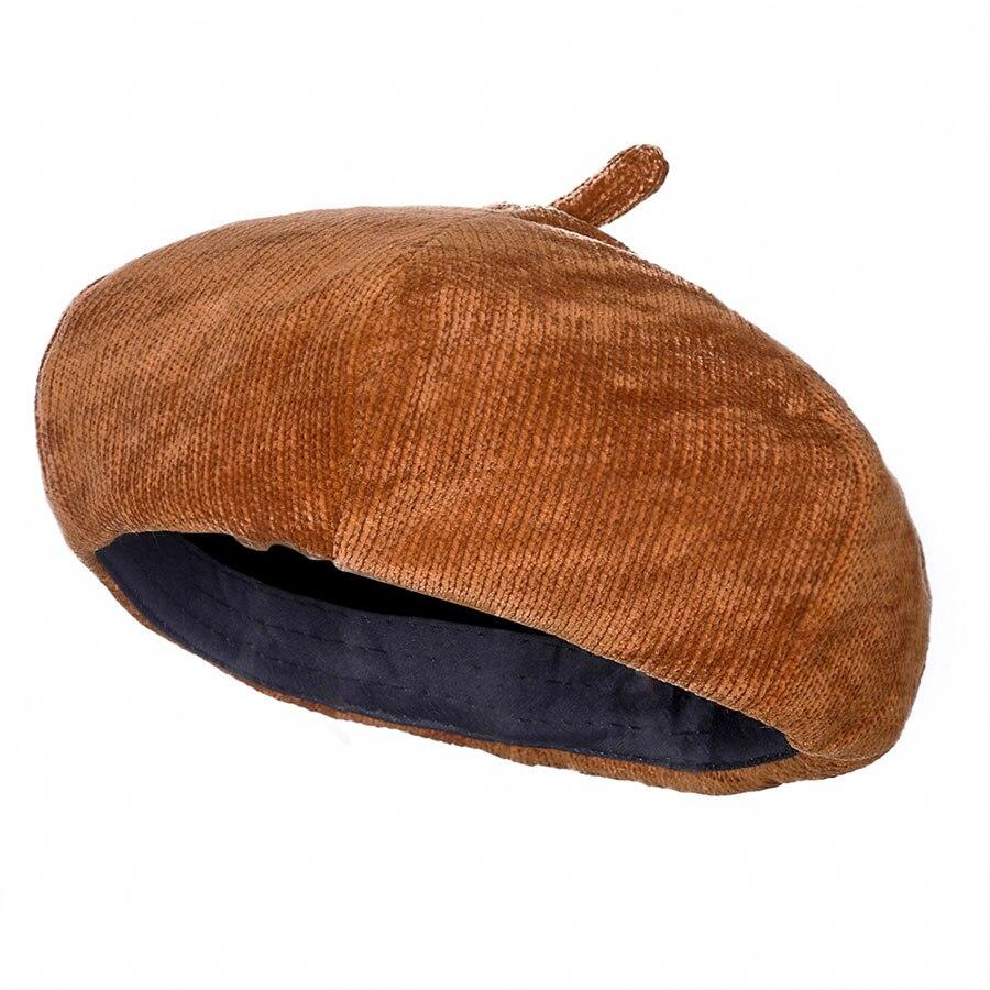 Boina de pana de mujer Haimeikang gorra octogonal de pintor sombrero de hombre  Newsboy gorra sombreros 21da9015edd9