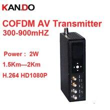 1080P NLOS передатчик 2 Вт COFDM приемопередатчик 2 км рабочий видео передатчик millitary передача изображения передатчик 300-900 МГц