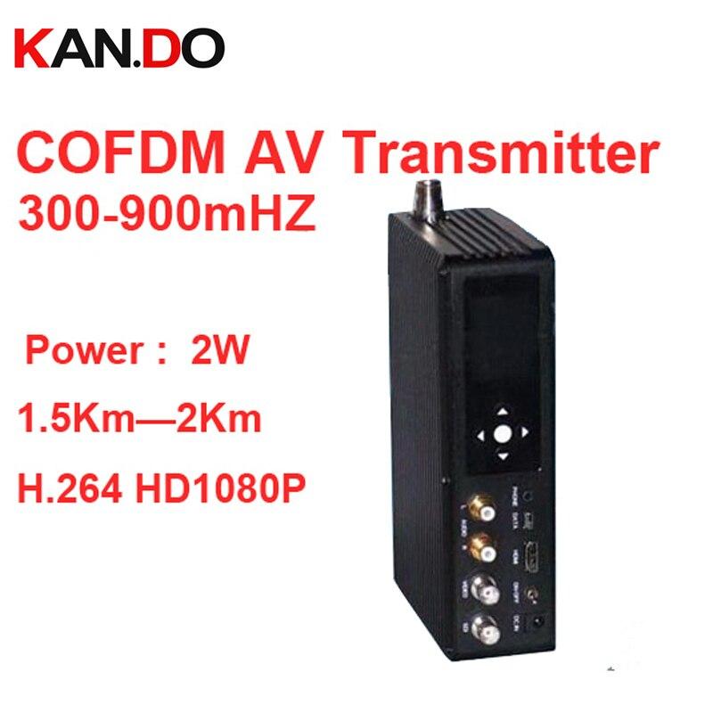 1080P NLOS transmitter 2W COFDM transceiver 2KM work video transmitter millitary Image transmission image transmitter 300-900mhz