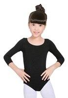 Long Sleeves Dance Ballet Leotards For Girls Gymnastics Classical Unitard Toddler Cotton Tutu Dance Wear Kids