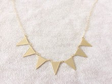 10PCS- N084 Fashion Bunting Necklace Simple Spike Arrow Necklace European Little Multiple Flags Necklace Triangles Necklaces 10pcs n050 fashion flat triangle necklace cut out subulate necklaces simple geometric polygon layering triangle necklace