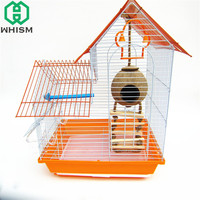 WHISM Natural Coconut Shell Bird Cage Parakeets Nesting House Bird Macaw Budgerigar Hamster Nest With Without