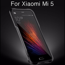 Xiaomi mi5 case Mi 5 pro Case Aluminum Metal Bumper Case for Xiaomi Mi5  m5 Prime with Leather Sticker Back Cover case