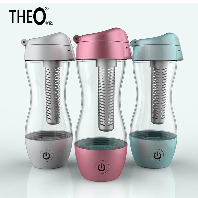 Theo Japan Hydrogen Generator Hydrogen Water Machine Women's Fashionable Hydrogen Water Bottle with USB Line 350ML HQT-V10 hydrogen water purifier machine hydrogen water generator