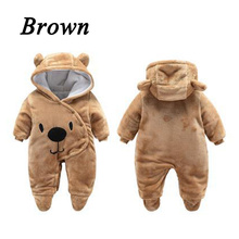 Baby Rompers Winter Baby Boy girls Clothes Cotton Newborn toddler Clothes Infant Jumpsuits new born warm clothing цена 2017