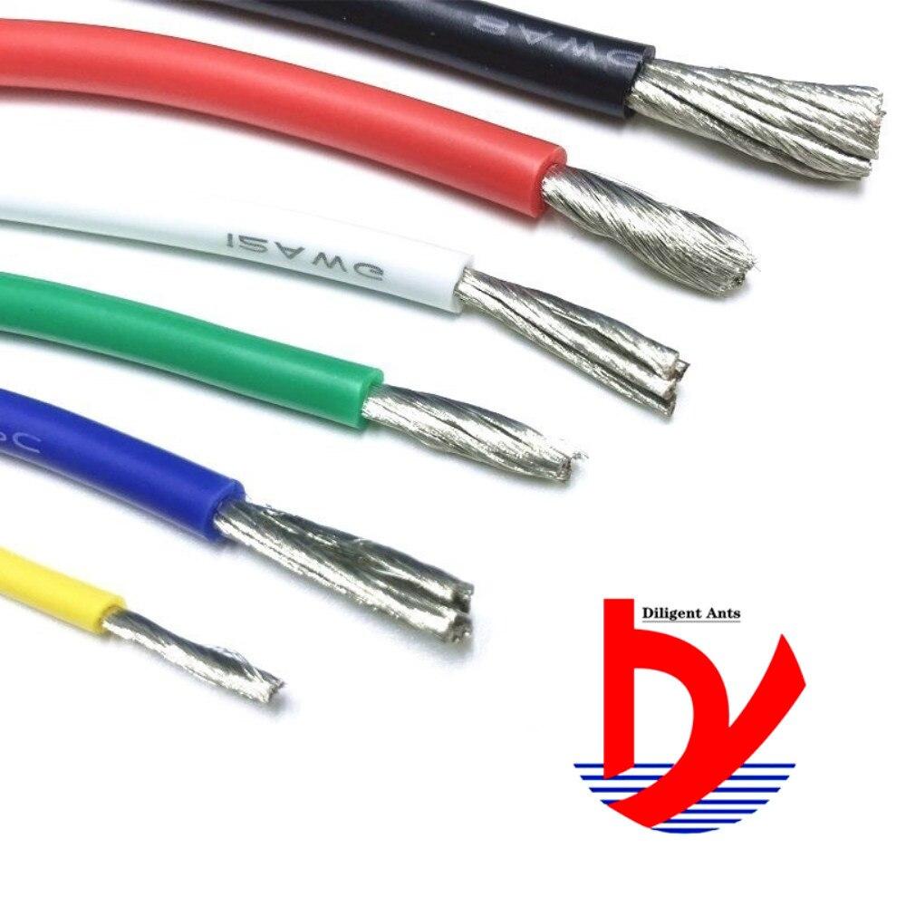 Термостойкий кабель провод мягкий силиконовый провод 12AWG 14AWG 16AWG 18AWG 20AWG 22AWG 24AWG 26AWG 28AWG 30AWG термостойкий силикон