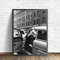 Póster de Llama de moda Pop Animal pared arte pintura de lona nórdica negro y blanco carteles e impresiones cuadros de pared para sala de estar