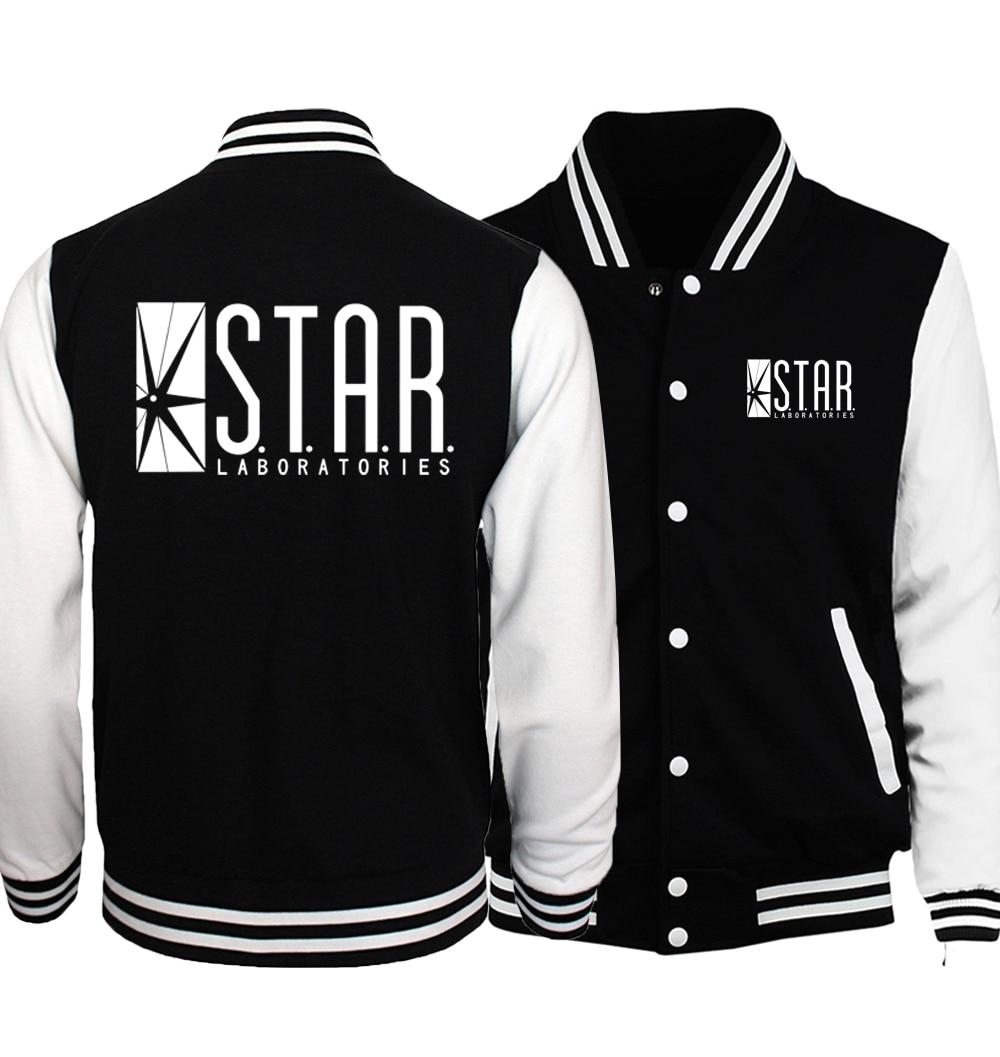 Funny Men STAR Labs Print Streetwear Hip-hop Sweatshirts 2019 Unisex  Series Hoodies Women Fitness Baseball Jackets Kpop