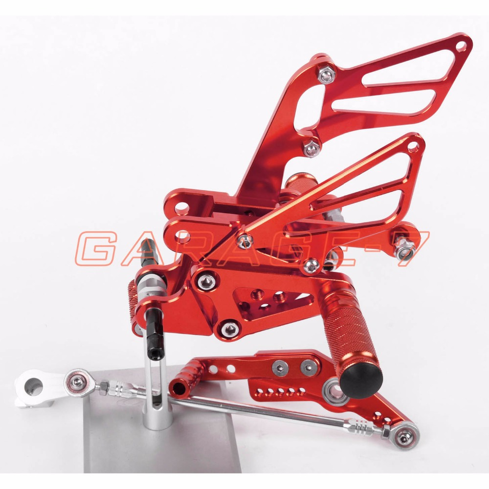 A New 6061 Aluminum Alloy CNC Rearsets Foot Rests Rear Set Red For HONDA CBR1000RR 2004-2007 2006 2005 Motorcycle Foot Pegs