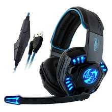 Noswer I8 Led Stereo Headset Computer Headphones earphones with microphone for Gaming PS4 PC Laptop Gamer Mobile Phones Gamer(China)