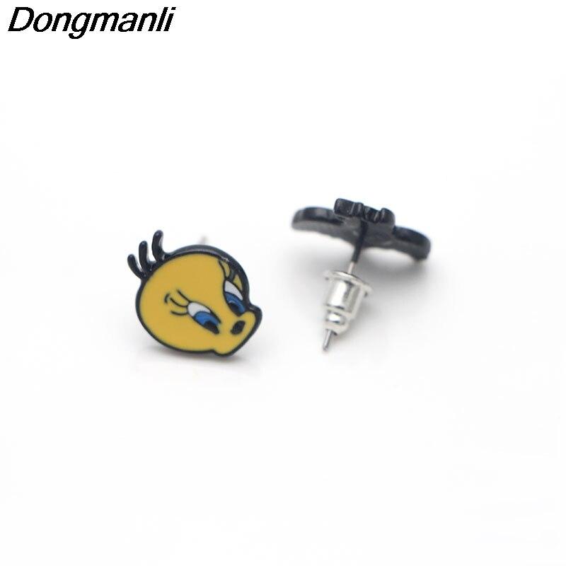 Looney Tunes Sylvester /& Tweety Metal Enamel Stud Earrings
