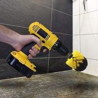 3 pçs/set Furadeira Elétrica Kit Escova escova de Limpeza Escova de Plástico Redondo Para O Tapete de Vidro Do Carro Pneus Nylon Brushes Lavador de Energia Broca|Escovas de limpeza|   -
