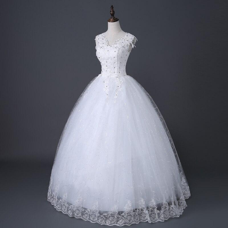 Image 3 - Desinger Simple Lace Wedding Dresses Custom made Cheap Bridal Gowns Vestido De Noiva Vintage Under 100-in Wedding Dresses from Weddings & Events
