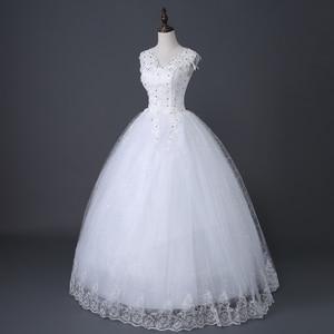 Image 3 - Desinger Simple Lace Wedding Dresses Custom made Cheap Bridal Gowns Vestido De Noiva Vintage Under 100