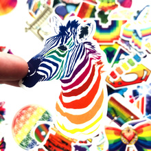 60pcs rainbow doodle stickers universe space stickers children animal stickers refrigerator Motorcycle bicycle sticker