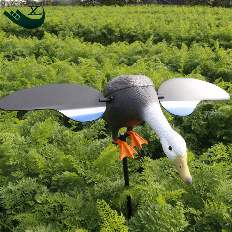 ФОТО Outdoor Hunting Duck Decoys Plastic Decoy Hunting Accessories With Spinning Wings From Xilei