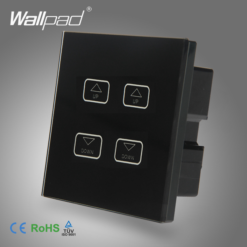 цена на Intelligent 4 Gang Dimmer Wallpad Black Tempred Glass Switch LED 4 Gang Dimmer Dimming Touch Control Light Wall Switch 1 Way