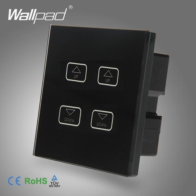 Intelligent 4 Gang Dimmer Wallpad Black Tempred Glass Switch LED 4
