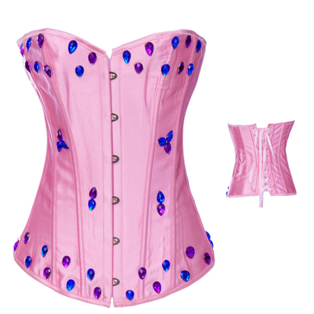 805818f1d1e Sexy Pink diamond corset-in Bustiers   Corsets from Underwear ...