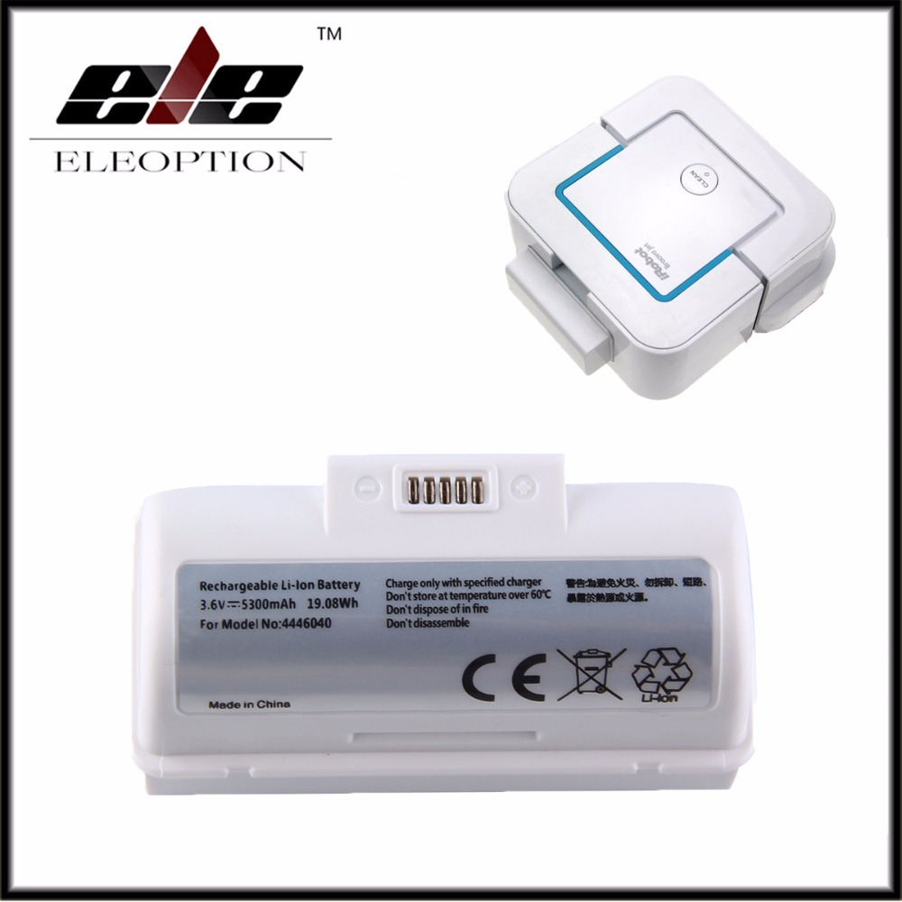 High Capacity 3.6V 5300mAh Li-ion Replacement <font><b>Battery</b></font> for <font><b>iRobot</b></font> Braava Jet 240 4446040