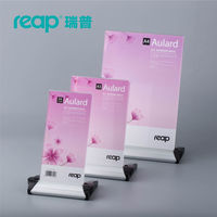 Reap Aulard Acrylic T shape desk sign can be revolved holder card display stand table menu service Label office club restaurant Card Holder & Note Holder Education & Office Supplies -