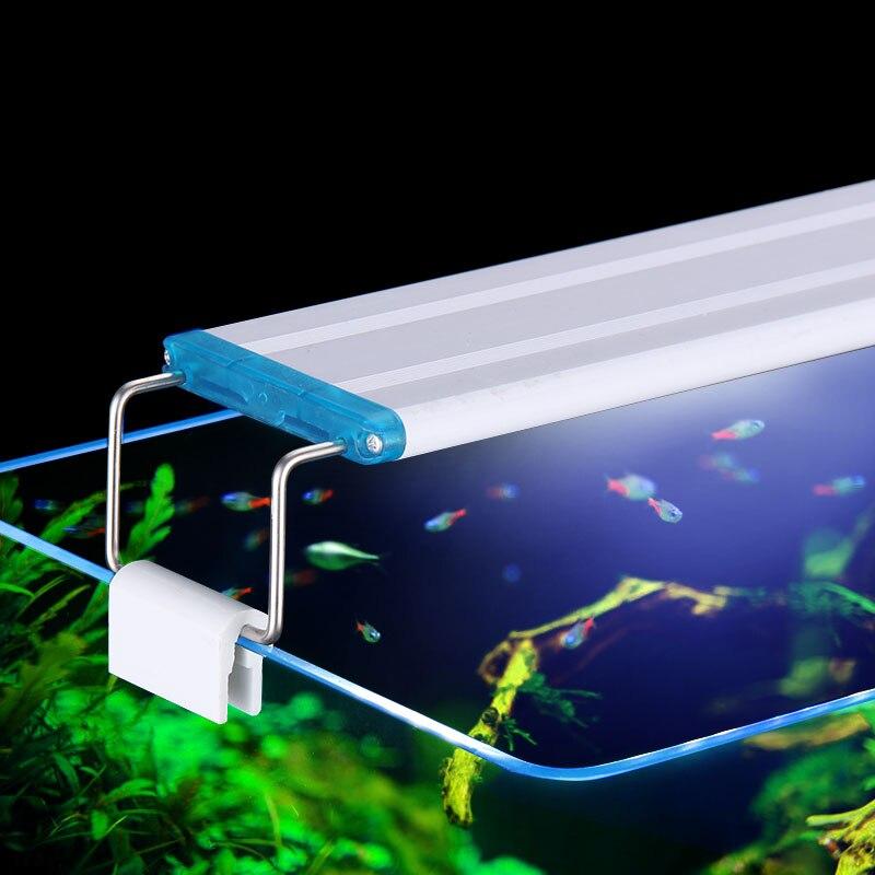 Super Dünne LEDs Aquarium Beleuchtung Wasserpflanze Licht 18-75 CM Extensible Wasserdicht Clip auf Lampe Für Aquarium