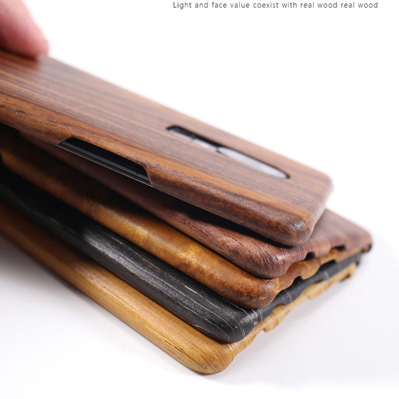 For Oneplus 6T 6 7 Pro 7T walnut Enony Wood Rosewood MAHOGANY  Wooden Slim Back Case Cover