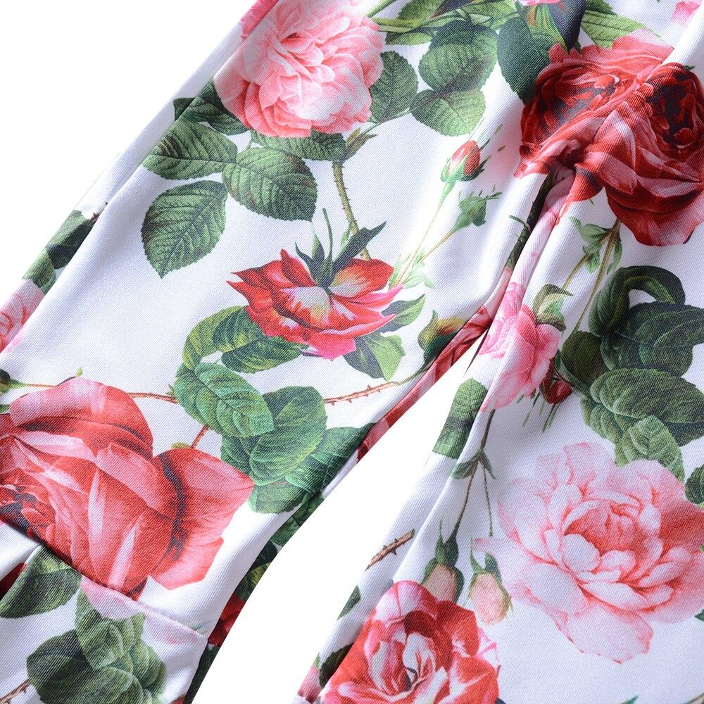 2018 Новая девушка цветок большой брюки костюм трепал воротник Летняя Детская Оптовая Продажа Одежда для девочек