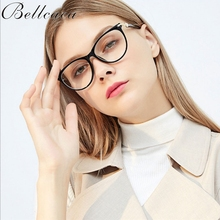 Bellcaca Optical Eyewear Frames Women Fashion Prescription Spectacles Protective Eyeglasses Round Frame Clear Lens Glasses BC826