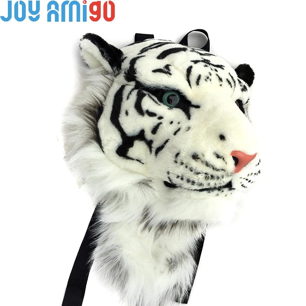 Taille énorme Tigerdome Blanc Tigre De Sibérie Tête Animale Sac À Dos de Dessin Animé En Peluche En Peluche Sac et Support Mural Cadeau 60 cm * 45 cm