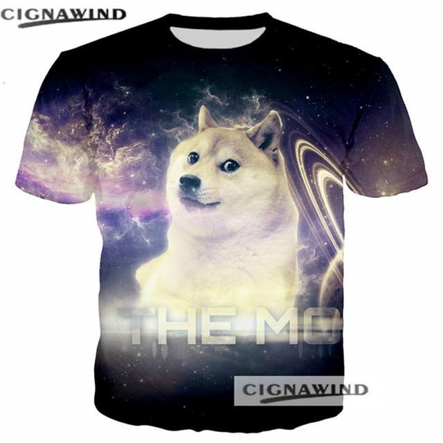 555433655 Funny t shirts men/women Doge Shiba Inu Dog Face 3D print t-shirt Short  sleeve Harajuku style tshirt streetwear summer tops