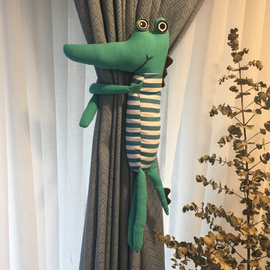 New Fashion Cartoon Creative Crocodile Doll Curtain Buckle Clip Strap Cute Accessories Exquisite Gift 237