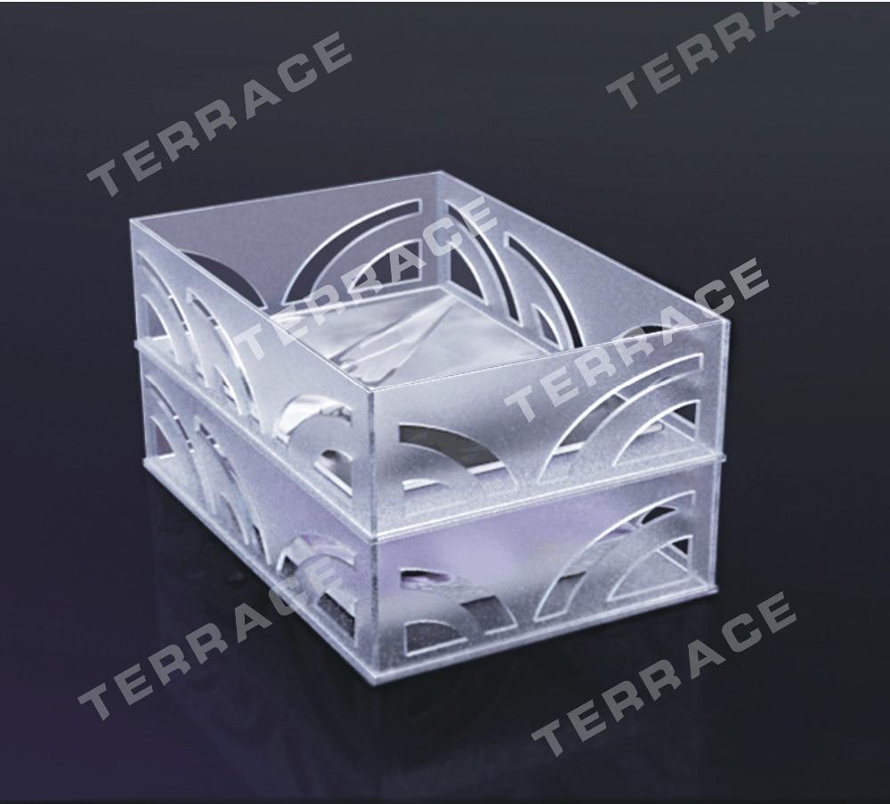 (2 PCS/LOT) bac de classement empilable A4 Foggy Lucite, porte-porte-panier en papier acrylique pour la maison/bureau, bacs à lettres