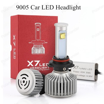 X7 9005 LED Car Headlight Fog Light 6000K Auto Headlamp Front Light Bulbs DRL Driving Headlights  80W 7200LM