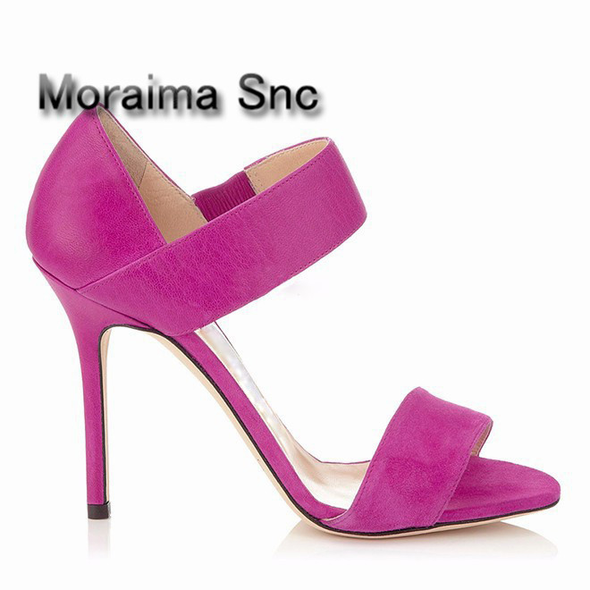 Moraima Snc brand gladiator sandals women red blue shoes women thin heels high heels sandals mujer 2018 fashion party shoes