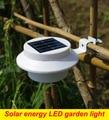 white/BULB/GREEN 3-LEDS Solar light energy LED Powered LED Rechargeable Fence Gutter Garden Lawn Fence Wall Lamp lights
