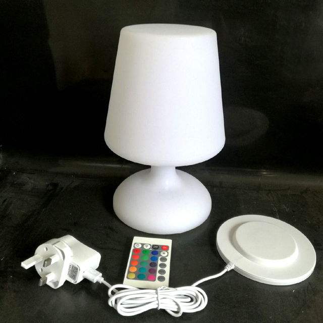 D17*H25.5cm LED Luminaire Lighting Table Lamp With 24 Keys Remote Control  For