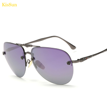 KisSun Brand Women Purple Sunglasses Female Fashion Outdoor Eyewear Fishing Rose Gold Pink G ray Sun Glasses 2016 New Arrivals