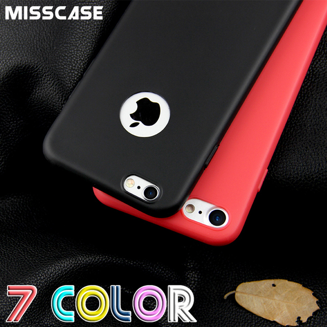 MISSCASE For iPhone 6 6s 7 plus 5 5s SE Cases Candy Colors Matte TPU Soft Silicone Protection Cover Phone Case for iPhone 7 6 5s