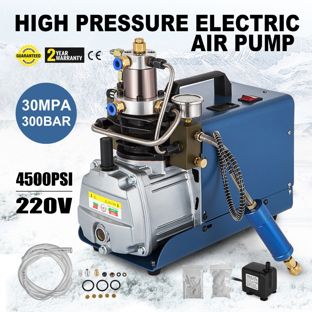 220V 30MPa Air Compressor Pump with PCP Electric High Pressure System NEW