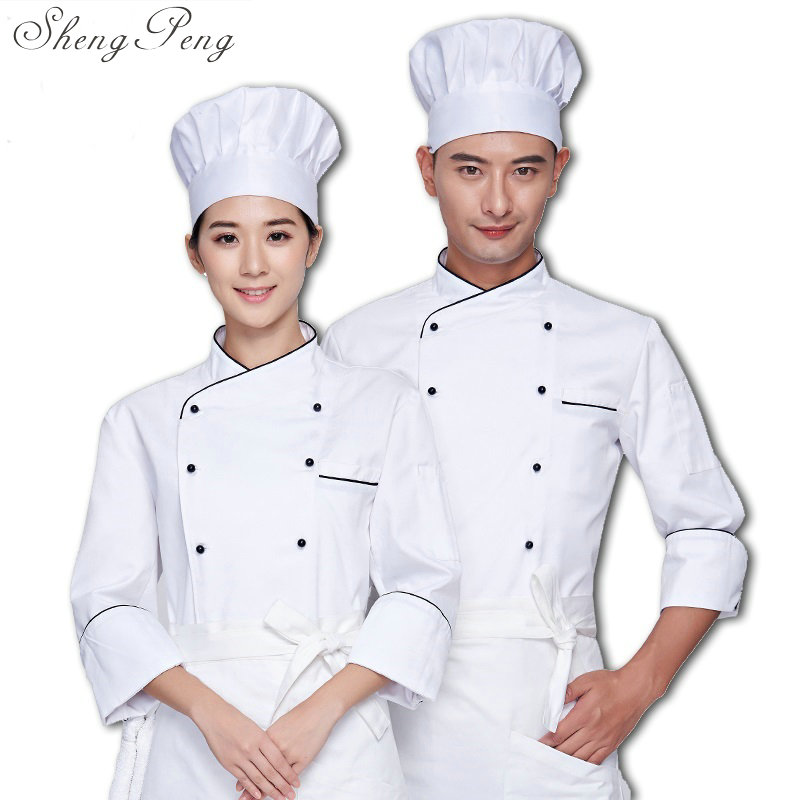 2018 new full sleeved chef service hotel working wear restaurant work clothes tooling chef uniform chef jackets CC334